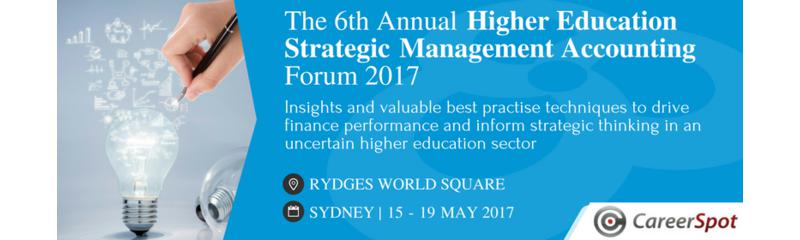 The 6th Annual Higher Education Strategic Management Accounting Forum 2017